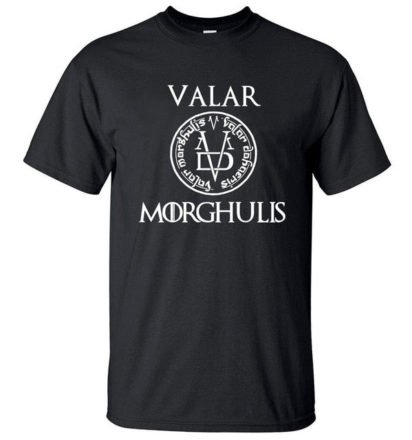 T-Shirt Game of Thrones Sans Visages Valar Morghulis Noir