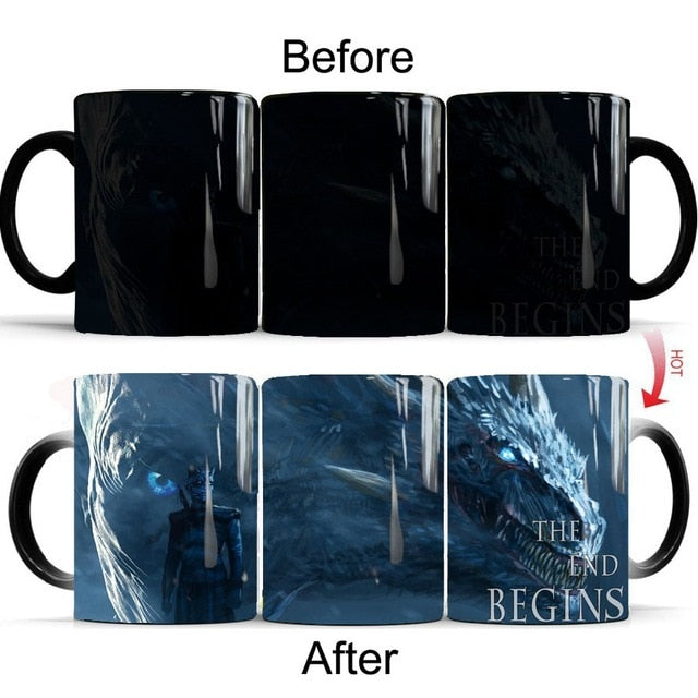 Mug Thermosensible Game of Thrones Roi de la Nuit & Viserion