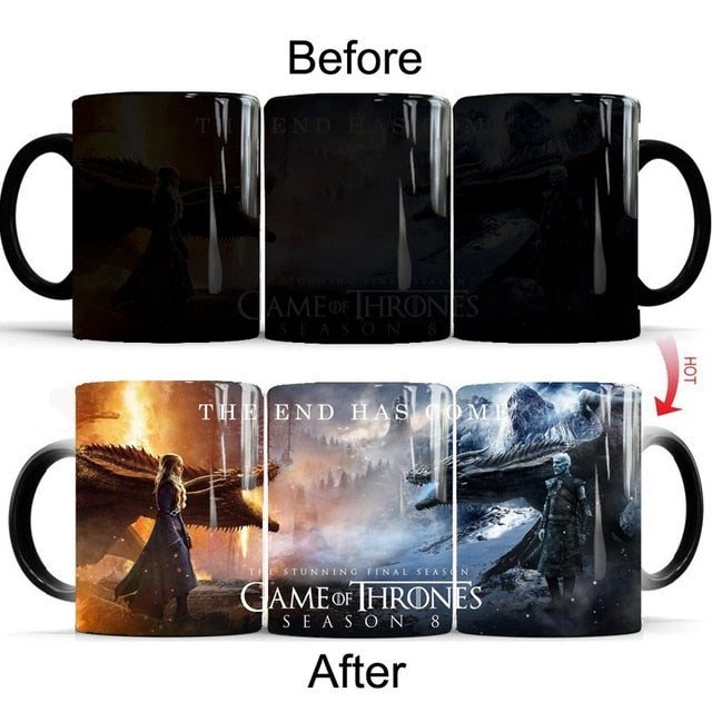 Mug thermosensible Game of Thrones Vivants Vs Morts