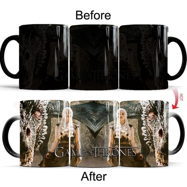 Mug thermosensible Game of Thrones Daenerys Dragon