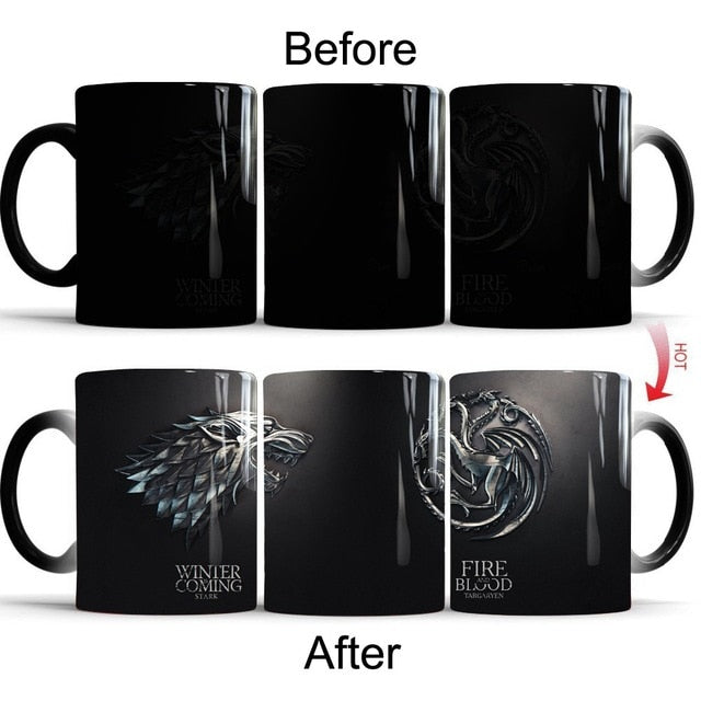 Mug thermosensible Game of Thrones Stark Vs Targaryen