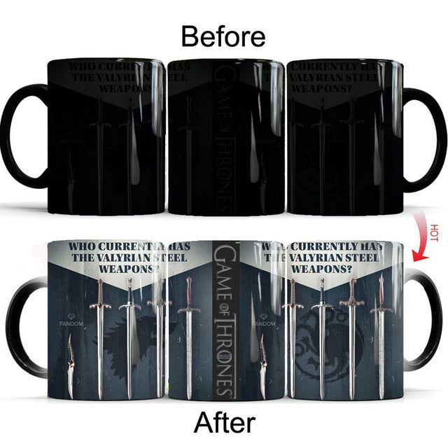 Mug thermosensible Game of Thrones Épées Acier Valyrien