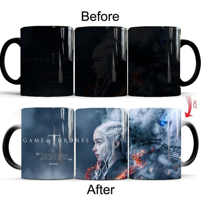 Mug thermosensible Game of Thrones Daenerys Vs Roi de la Nuit