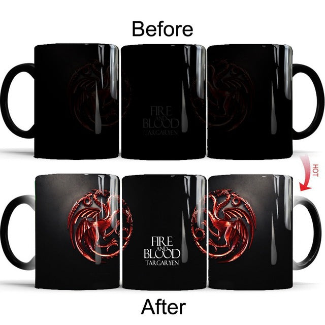 Mug thermosensible Game of Thrones Team Targaryen