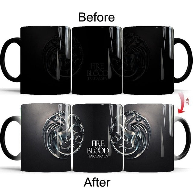 Mug thermosensible Game of Thrones Maison Targaryen