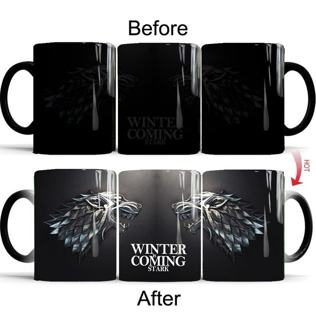 Mug thermosensible Game of Thrones Maison Stark