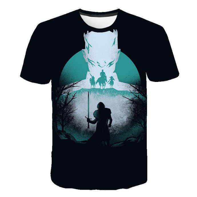 T-Shirt Game of Thrones : Jon Snow Vs Roi de la Nuit