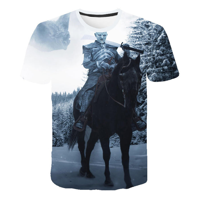 T-Shirt Game of Thrones Roi de la Nuit à Cheval