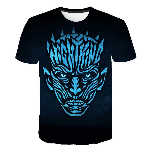 T-Shirt Game of Thrones VIsage Roi de la Nuit