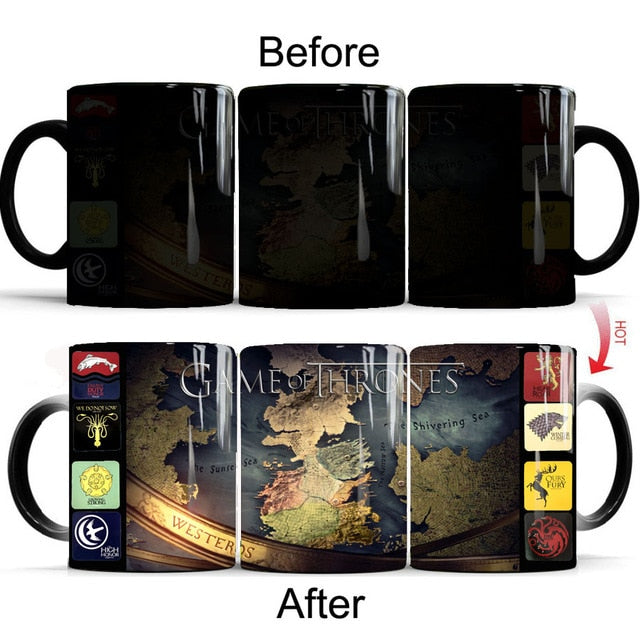 Mug thermosensible Game of Thrones Westeros