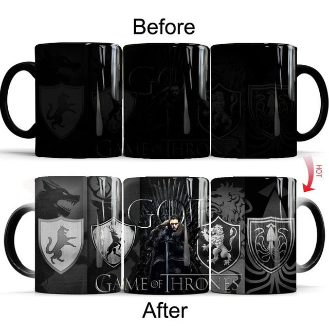 Mug thermosensible Game of Thrones Jon Snow