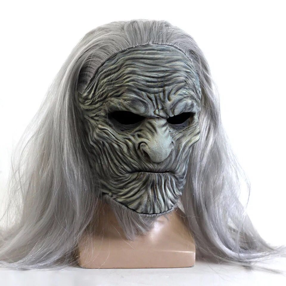Déguisement Game of Thrones : Masque Marcheur Blanc (White Walker)
