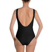 Load image into Gallery viewer, VI Flag Black One-Piece Swimsuit