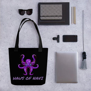 HAUS of NAVI Purple Logo Tote Bag II