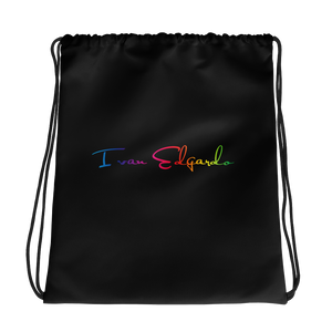 Ivan Edgardo Pride Logo Drawstring Bag