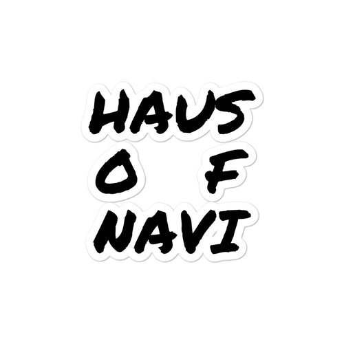 HAUS of NAVI Black Square Logo Bubble-free stickers