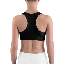 Load image into Gallery viewer, HAUS of NAVI Purple Logo Sports bra