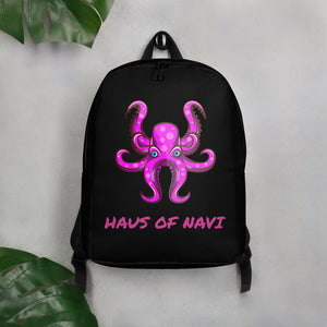 HAUS of NAVI Pink Logo Minimalist Backpack