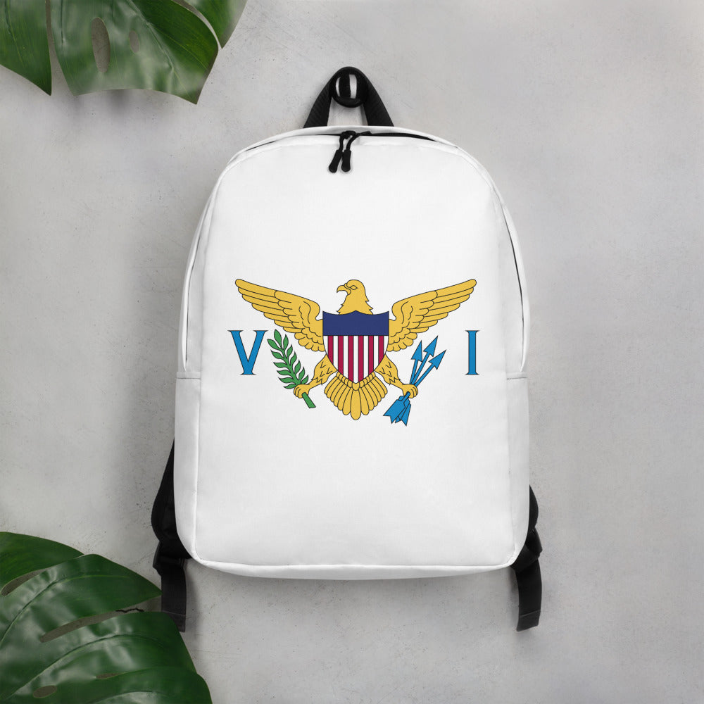 VI Flag Logo Minimalist Backpack