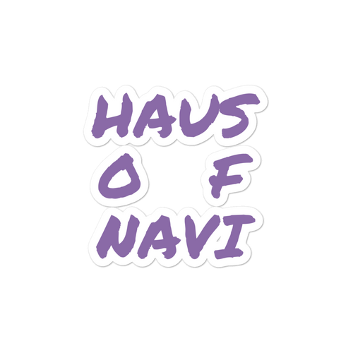 HAUS of NAVI Purple Square Logo Bubble-free stickers