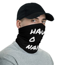 Load image into Gallery viewer, HAUS of NAVI White Square Logo Neck gaiter