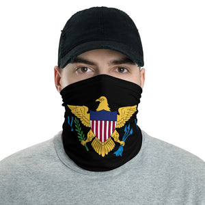 VI Flag Black Neck Gaiter