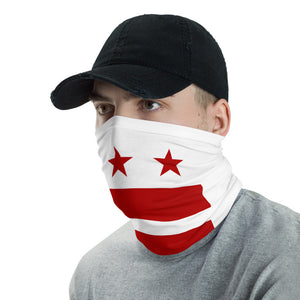 DC Flag White Neck Gaiter