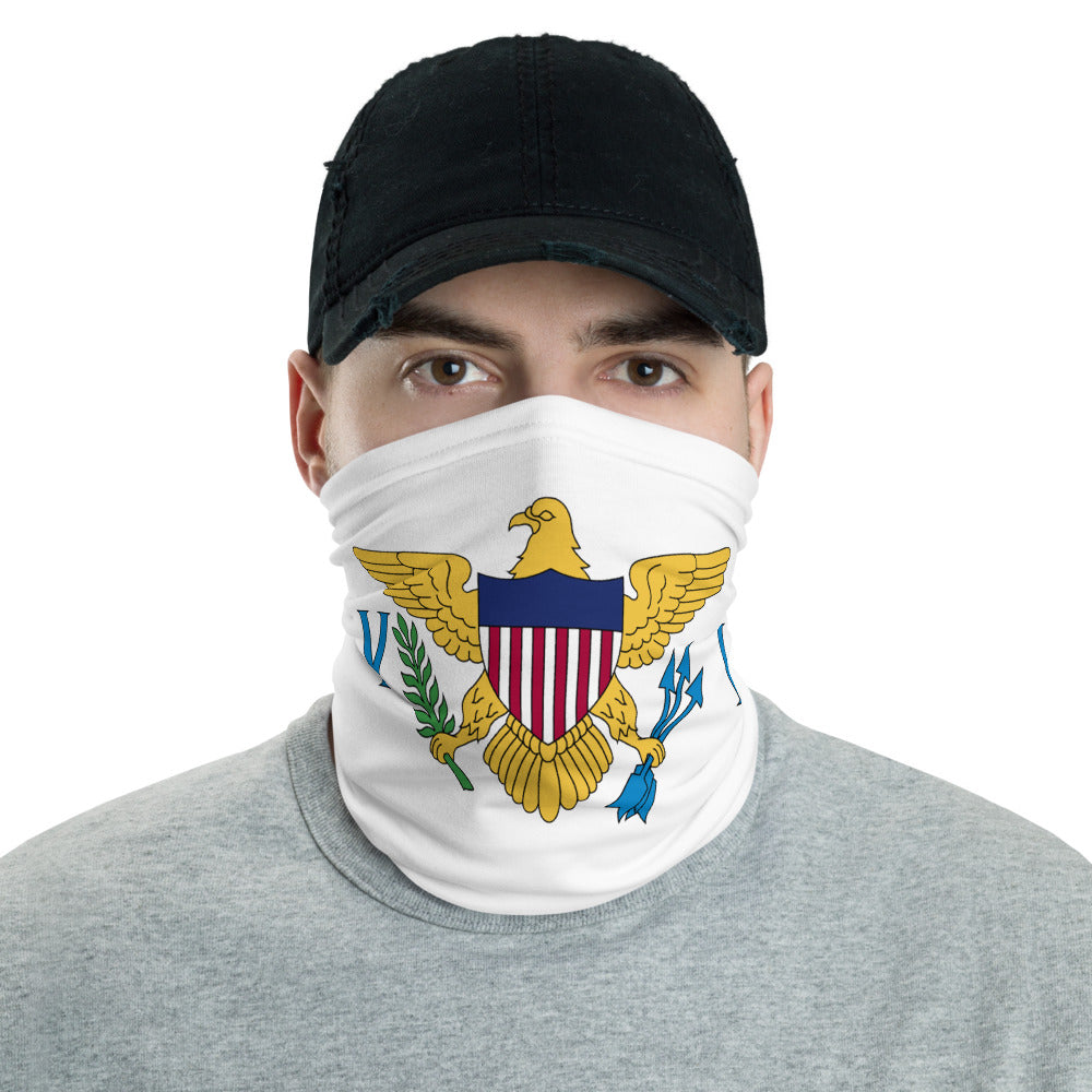 VI Flag White Neck Gaiter