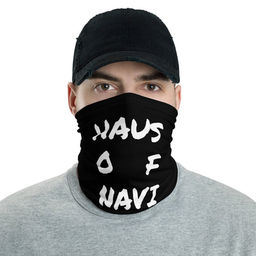 HAUS of NAVI White Square Logo Neck gaiter