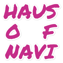 Load image into Gallery viewer, HAUS of NAVI Pink Square Logo Bubble-free stickers