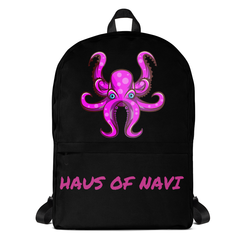 HAUS of NAVI Pink Logo Backpack
