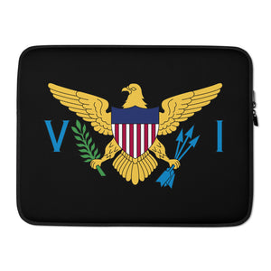VI Flag Laptop Sleeve