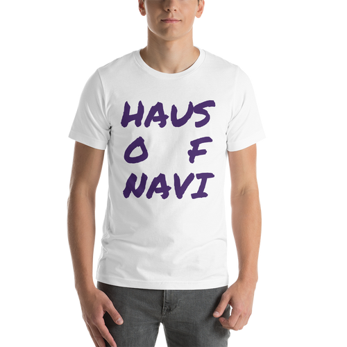 HAUS of NAVI Purple Square Logo Short-Sleeve Unisex T-Shirt