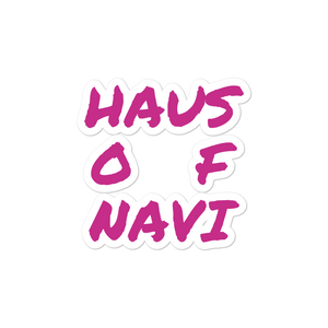 HAUS of NAVI Pink Square Logo Bubble-free stickers
