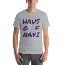 Load image into Gallery viewer, HAUS of NAVI Purple Square Logo Short-Sleeve Unisex T-Shirt
