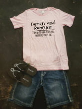 Load image into Gallery viewer, Farmin' and Ranchin' Graphic T-Shirt