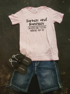 Farmin' and Ranchin' Graphic T-Shirt