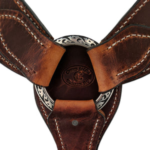 Picture of C&L Heavy Waxed 3 Piece Breast Collar with Square Jeremiah Watt Buckles BC000014