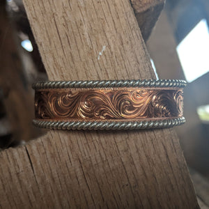 Copper Engraved Western Bracelet Design BRC00015 by Loreena Rose