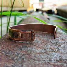 Load image into Gallery viewer, Copper Engraved Western Bracelet Design BRC00027 by Loreena Rose