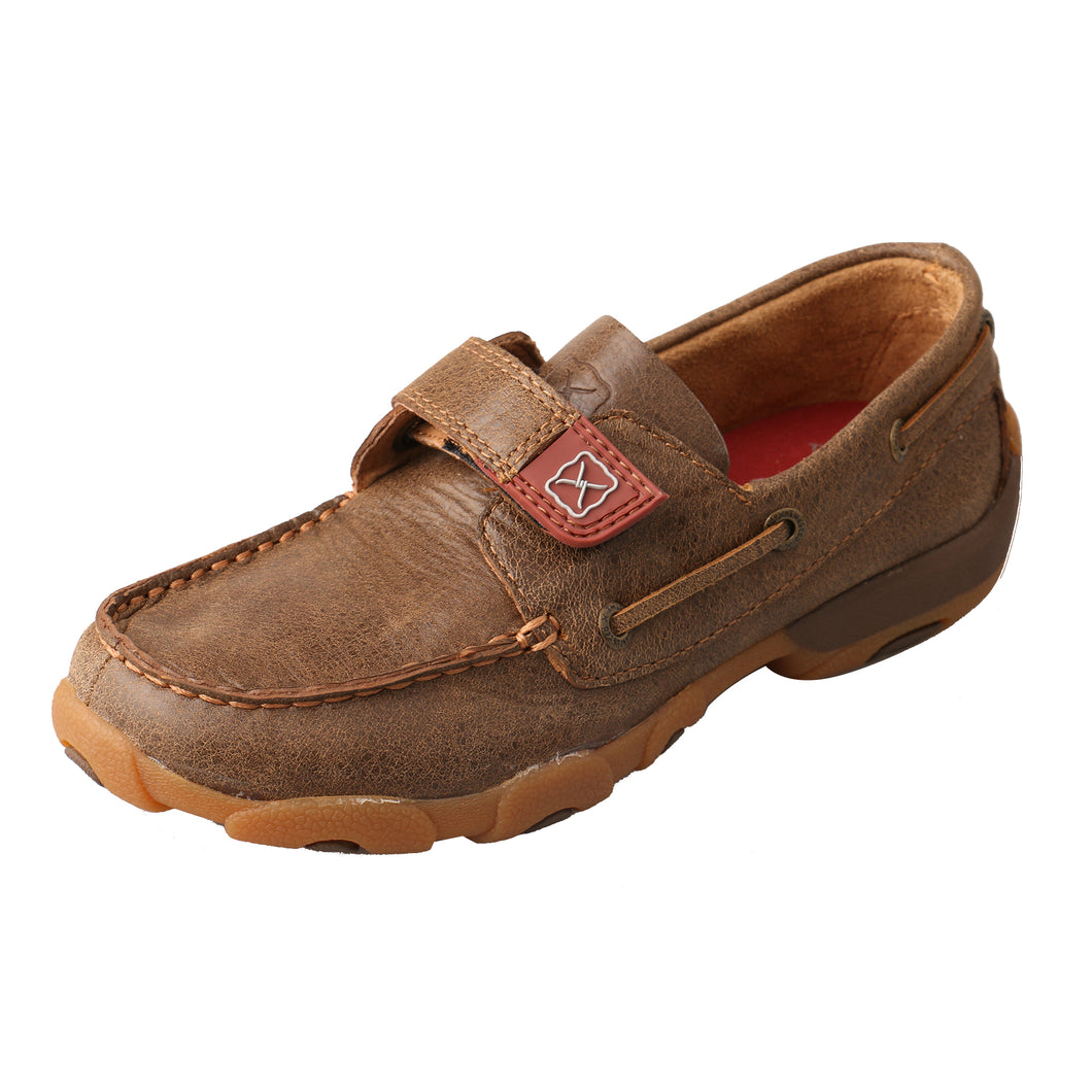 Picture of front outside of Kid's Twisted X Boat Shoe Driving Moc CDM0003