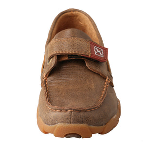 Picture of outside of Kid's Twisted X Boat Shoe Driving Moc CDM0003