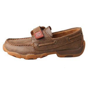 Picture of front of Kid's Twisted X Boat Shoe Driving Moc CDM0003