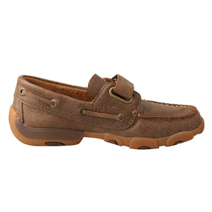 Picture of heel of Kid's Twisted X Boat Shoe Driving Moc CDM0003
