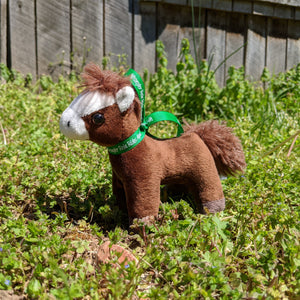 Rosie Plush Toy Horse Character from the book series The Adventures of Cowboy Cinch & Wrangler Rein