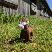 Load image into Gallery viewer, Rosie Plush Toy Horse Character from the book series The Adventures of Cowboy Cinch & Wrangler Rein