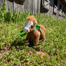 Load image into Gallery viewer, Duke Plush Toy Horse Character from the book series The Adventures of Cowboy Cinch & Wrangler Rein