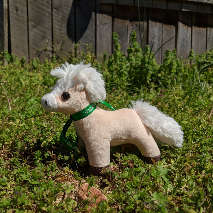 Biscuit Plush Toy Horse Character from the book series The Adventures of Cowboy Cinch & Wrangler Rein