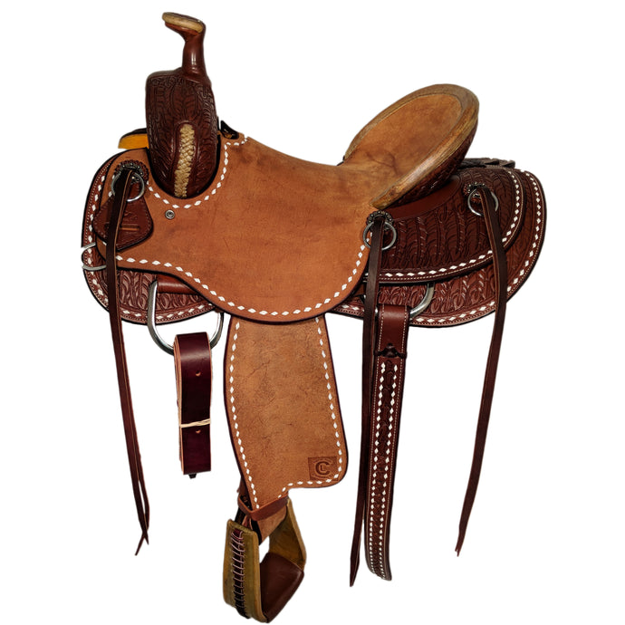 Side picture of C&L Buckstitched Feather Rancher CLS00010