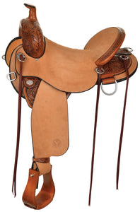 Side Picture of Circle Y Drover FlexII Hardseat Trail Saddle 2382
